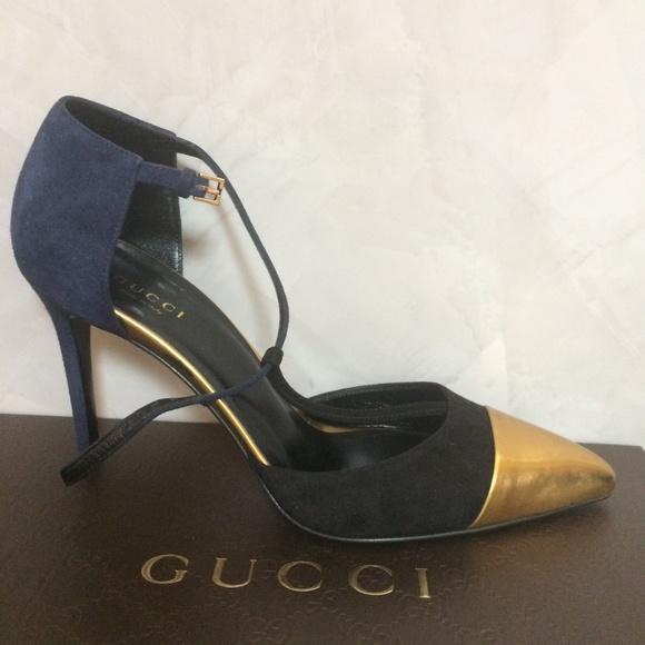 779293bbf28c1 Gucci Shoes | Coline Suede Tstrap Pumps | Poshmark